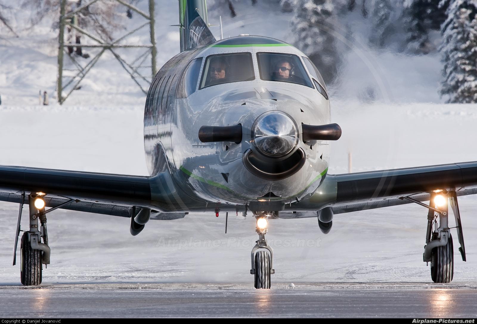 Private LX-SKY aircraft at Samedan - Engadin
