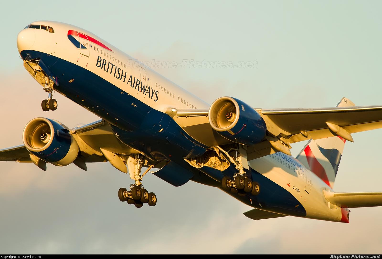 British Airways G-YMMI aircraft at London - Heathrow