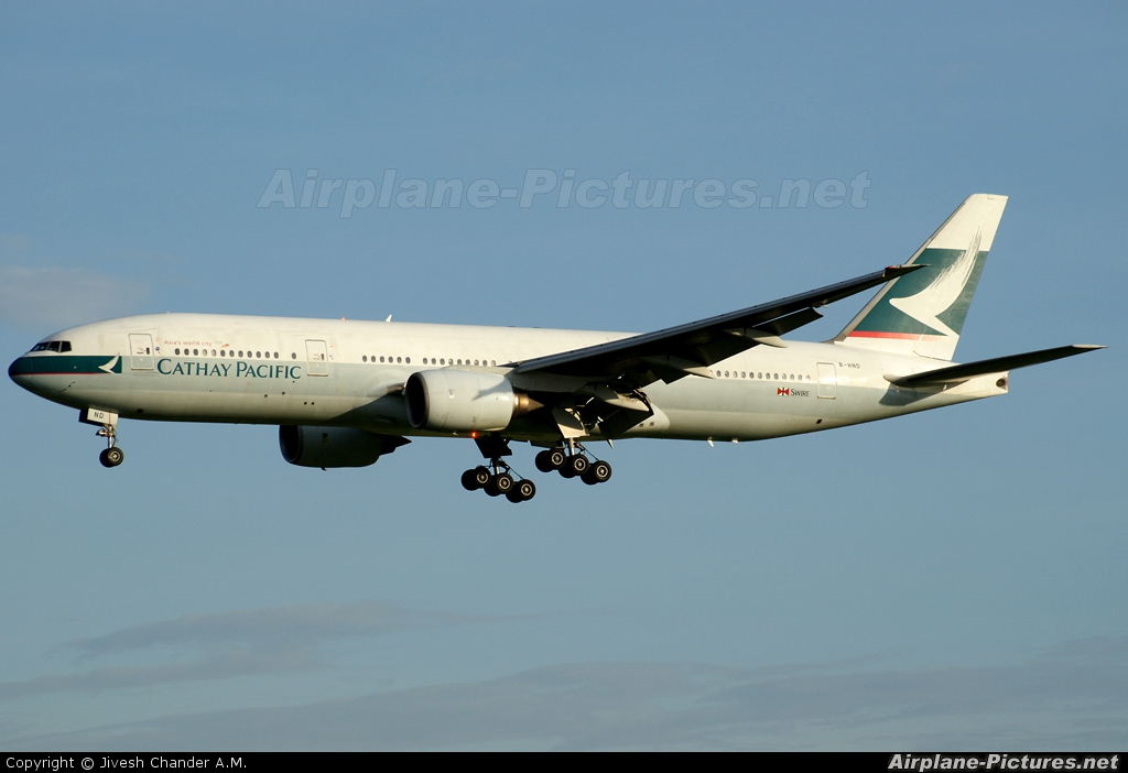 Cathay Pacific B-HND aircraft at Singapore - Changi