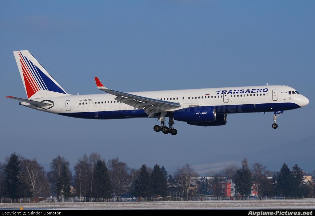 Transaero Airlines RA-64509 aircraft at Salzburg