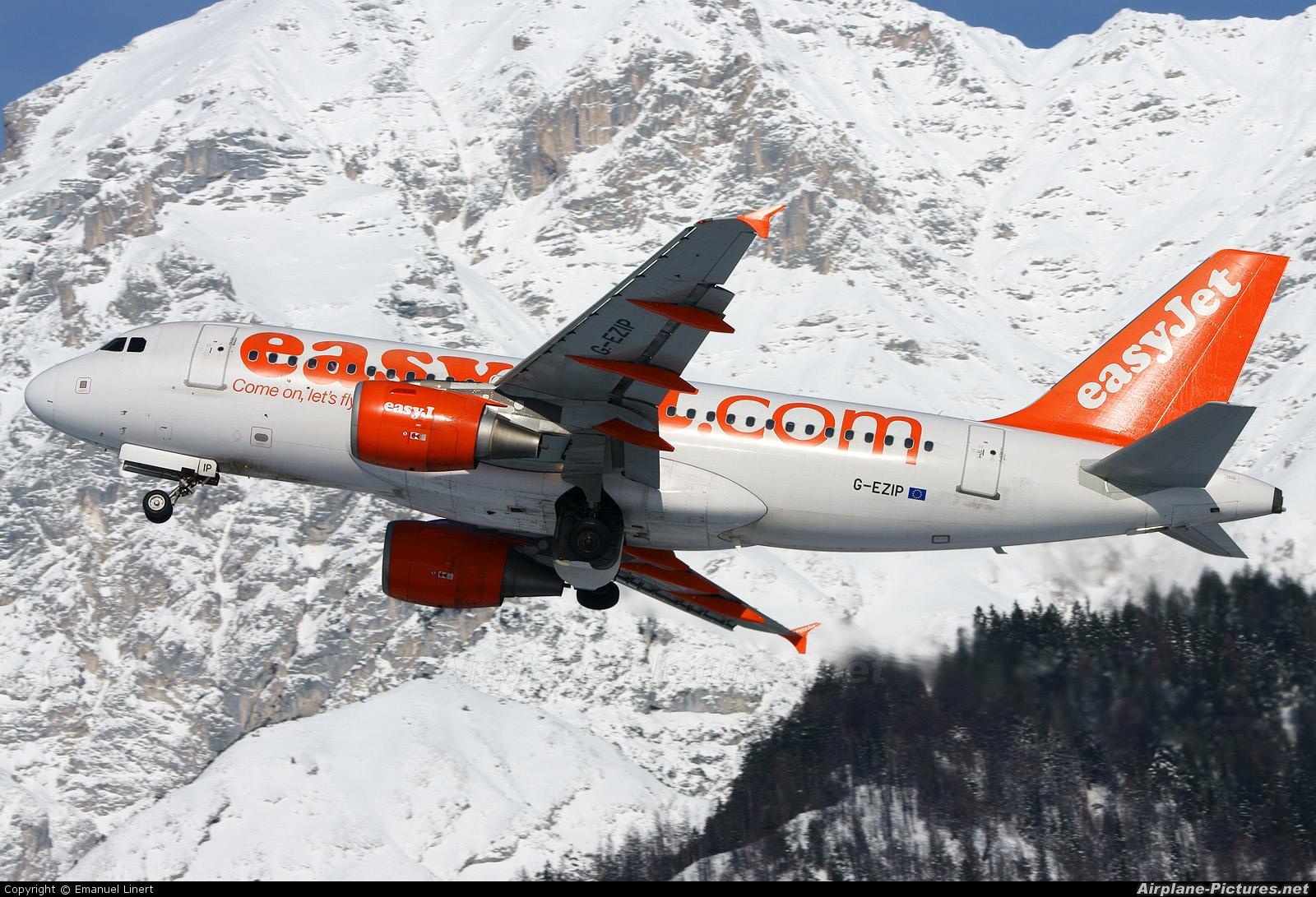 easyJet G-EZIP aircraft at Innsbruck