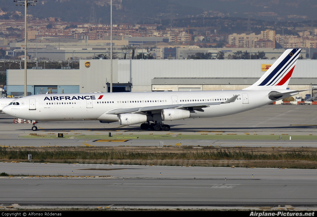 f glzc air france airbus a340 300 at barcelona el prat