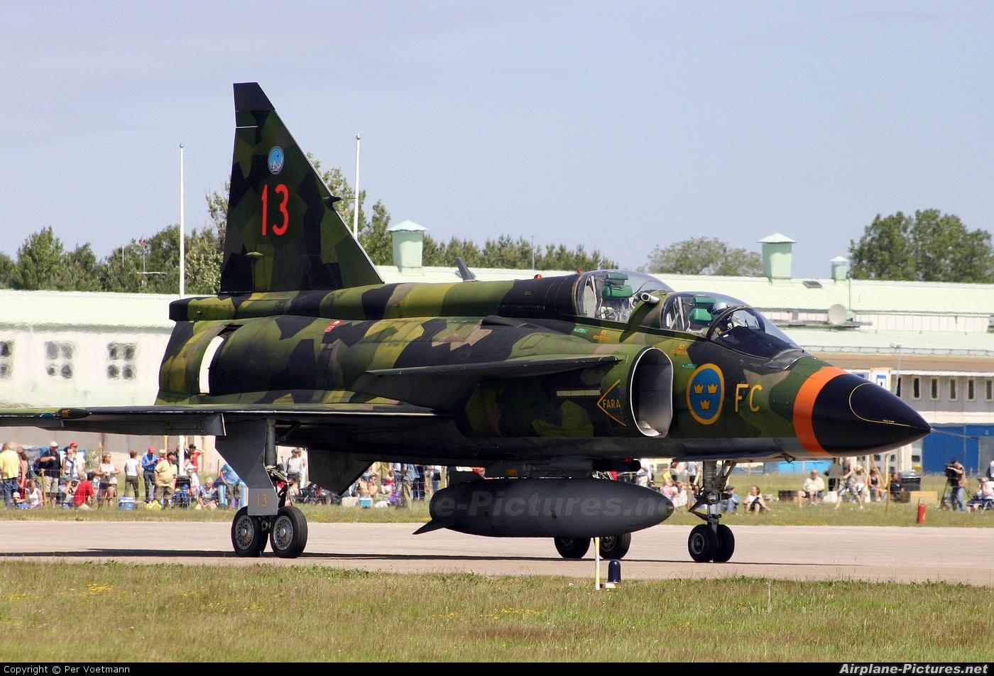 37813 Sweden Air Force SAAB SK 37 Viggen at Såtenäs Photo ID 113981 Airplane Pictures net