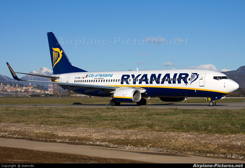 Ryanair EI-EBK aircraft at Bergamo - Orio al Serio