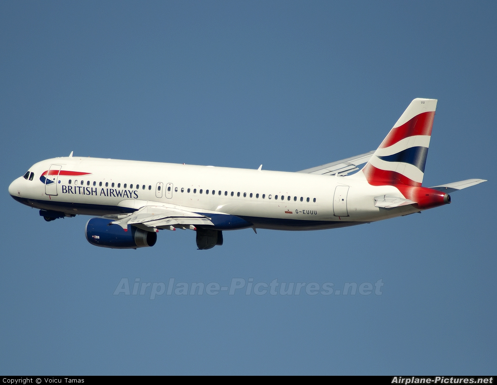 British Airways G-EUUU aircraft at Barcelona - El Prat