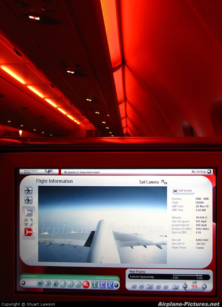 Emirates Airlines A6-EDJ aircraft at In Flight - International