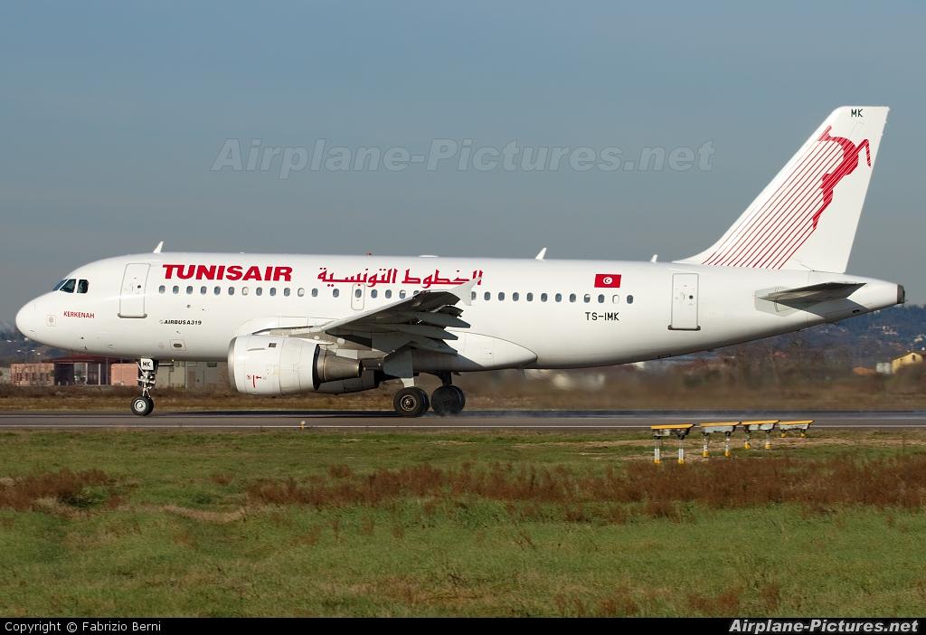 Tunisair TS-IMK aircraft at Verona - Villafranca