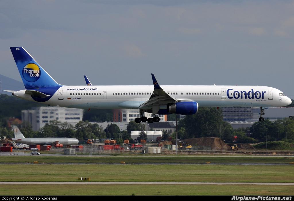 Condor D-ABOE aircraft at Frankfurt