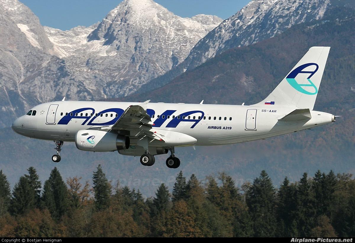 Adria Airways S5-AAR aircraft at Ljubljana - Brnik