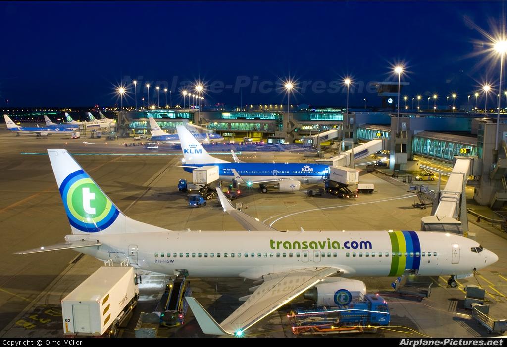 Transavia PH-HSW aircraft at Amsterdam - Schiphol