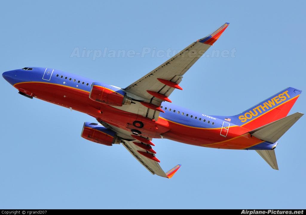 Southwest Airlines N709SW aircraft at John Wayne, Orange county