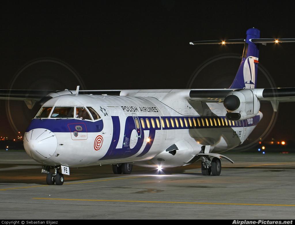 euroLOT SP-LFE aircraft at Gdansk - Lech Walesa
