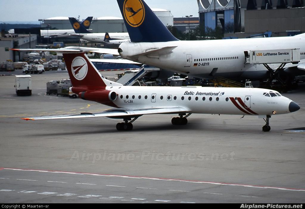 Baltic International YL-LBK aircraft at Frankfurt