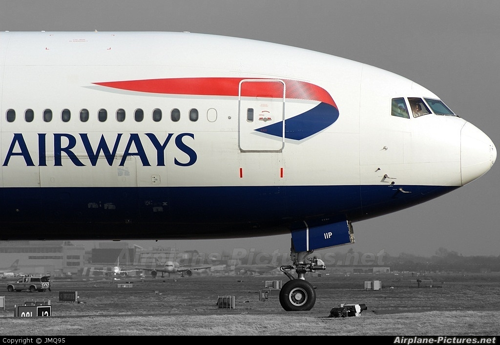 British Airways G-VIIP aircraft at London - Gatwick
