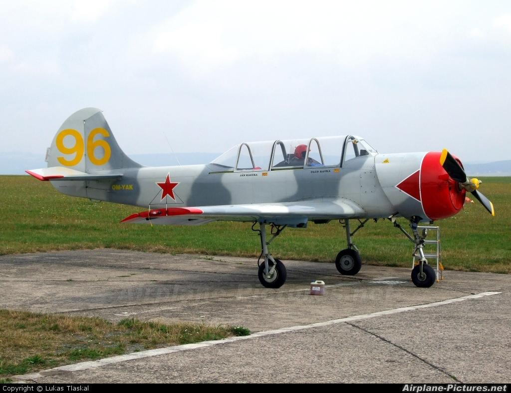 Slovensky Narodny Aeroklub OM-YAK aircraft at Moravská Třebová