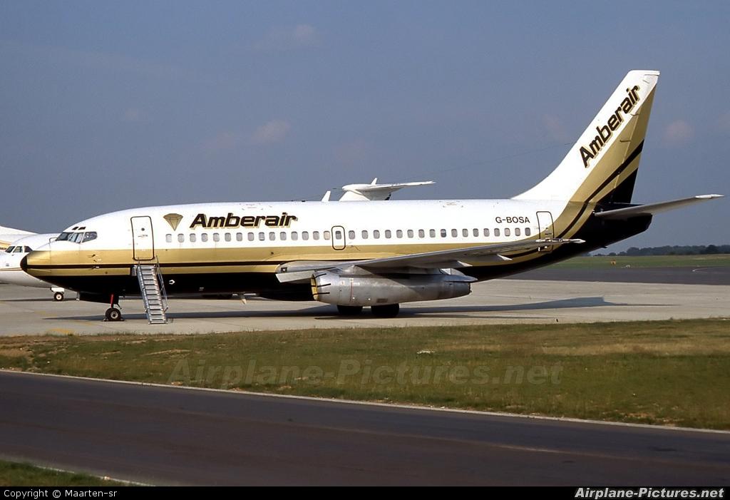 Amberair G-BOSA aircraft at London - Luton