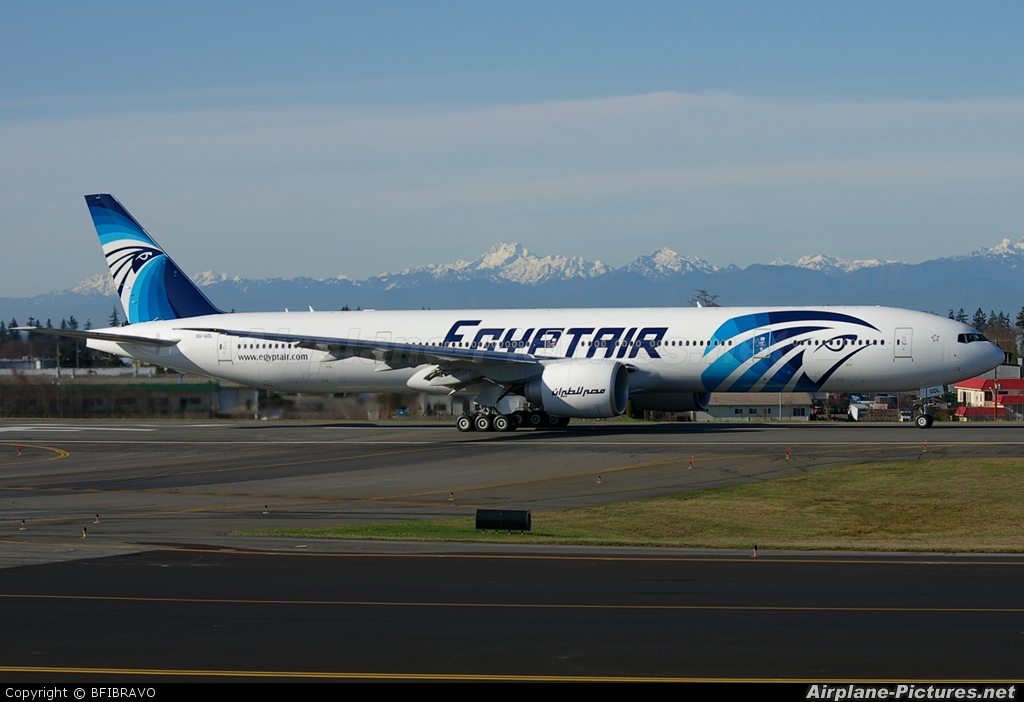 Egyptair SU-GDL aircraft at Everett - Snohomish County / Paine Field