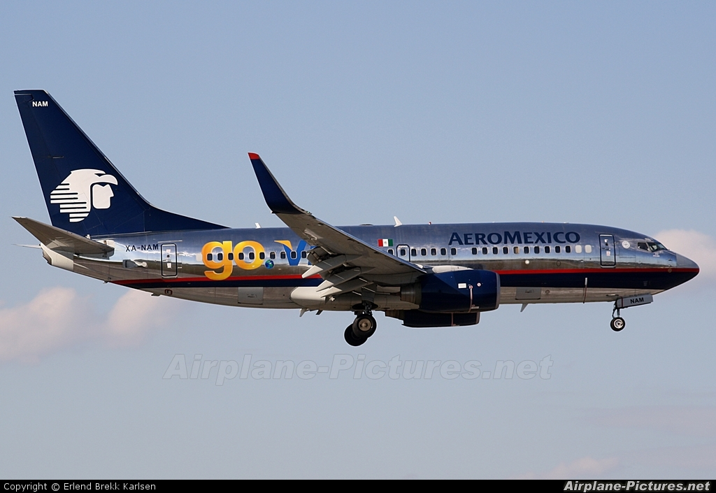 XA-GOL - Aeromexico Boeing 737-700 at Mexico City