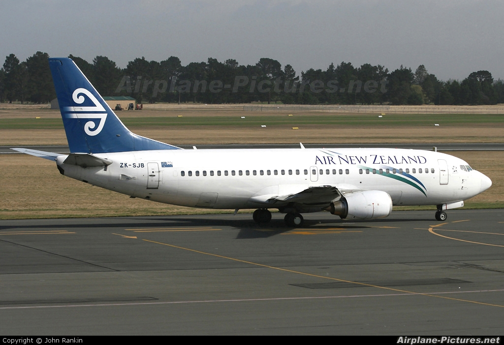 Air New Zealand ZK-SJB aircraft at Christchurch Intl