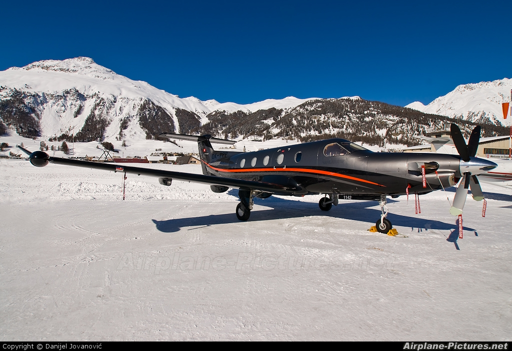 Private OK-PPP aircraft at Samedan - Engadin