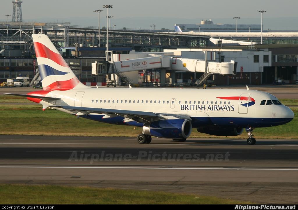 British Airways G-EUPS aircraft at London - Heathrow