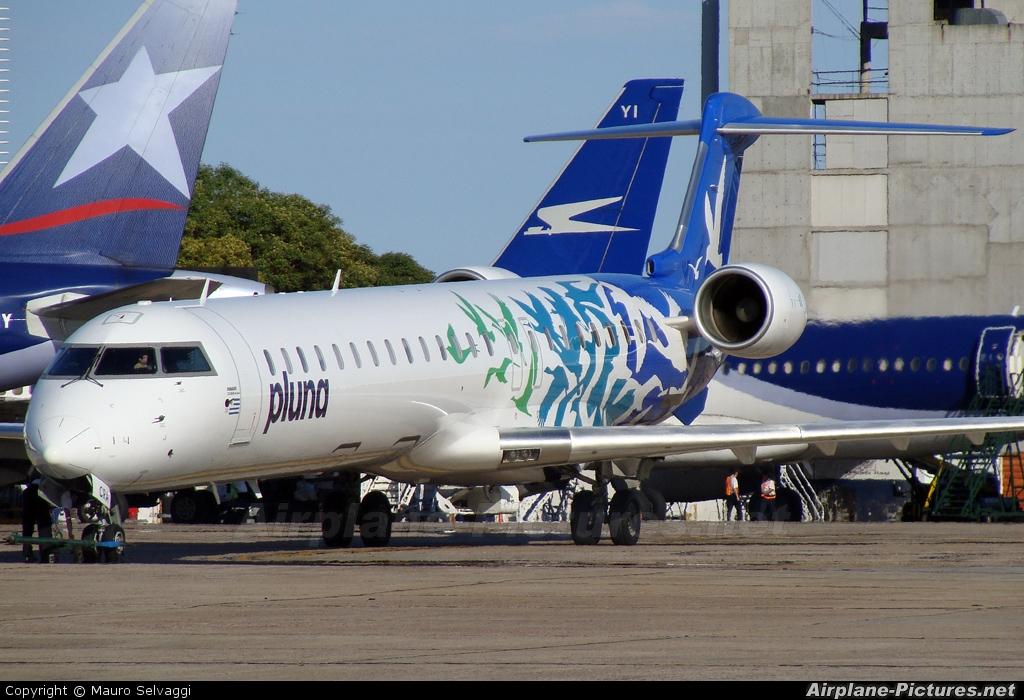 Pluna CX-CRA aircraft at Buenos Aires - Jorge Newbery