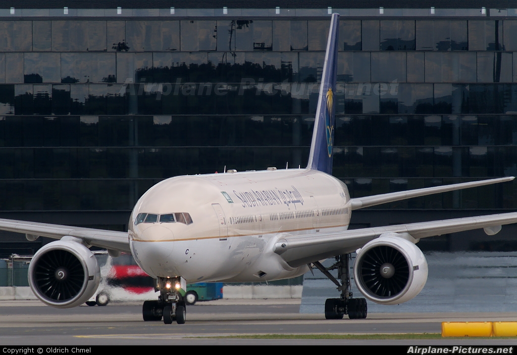 Saudi Arabian Airlines HZ-AKC aircraft at Vienna - Schwechat