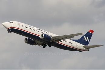 N445US - US Airways Boeing 737-400