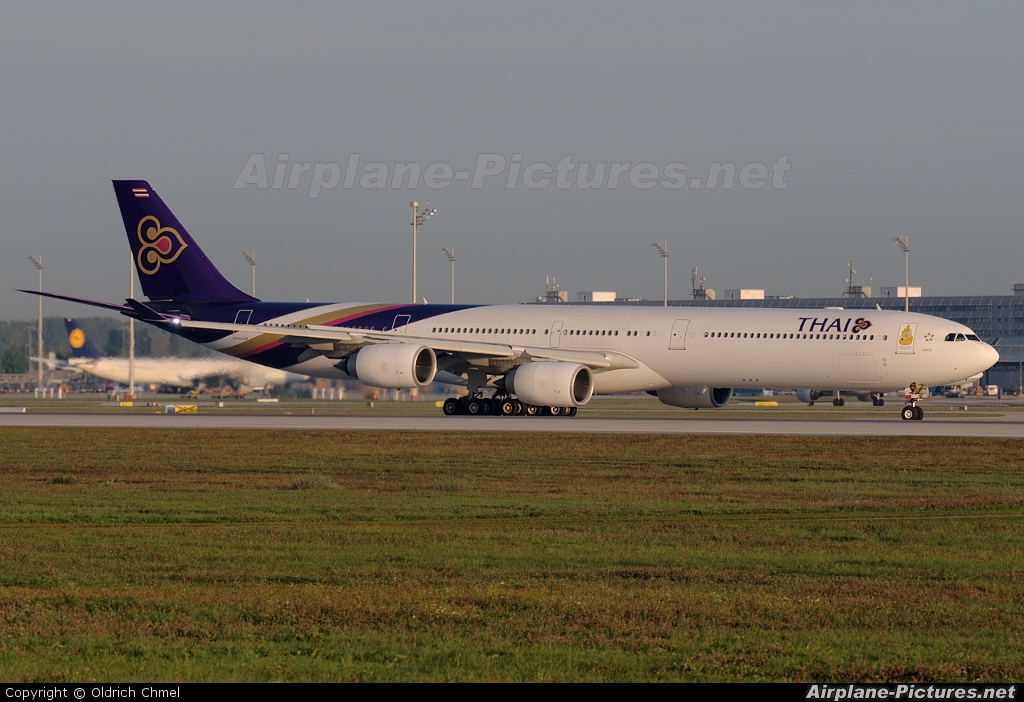 Thai Airways HS-TNE aircraft at Munich