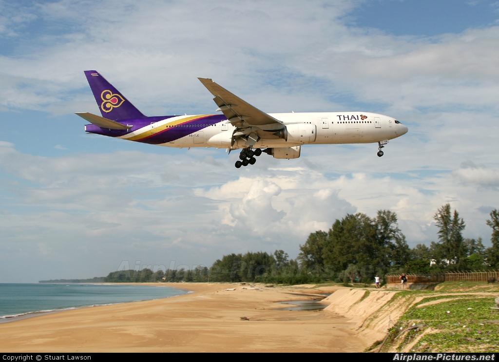 Thai Airways HS-TJE aircraft at Phuket