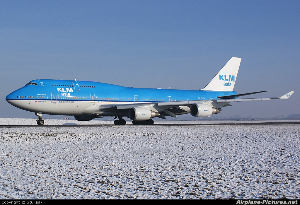 KLM Asia PH-BFY aircraft at Amsterdam - Schiphol
