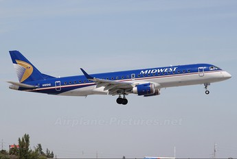N165HQ - Midwest Airlines Embraer ERJ-190 (190-100)