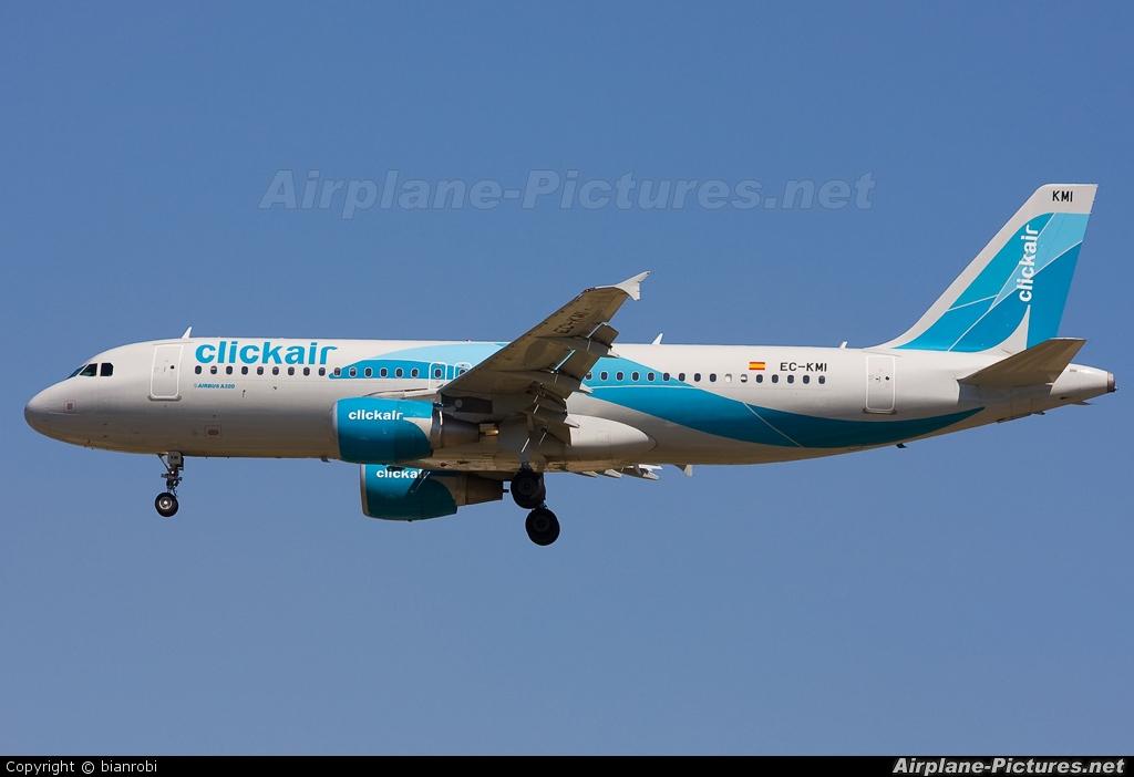 Clickair EC-KMI aircraft at Milan - Malpensa