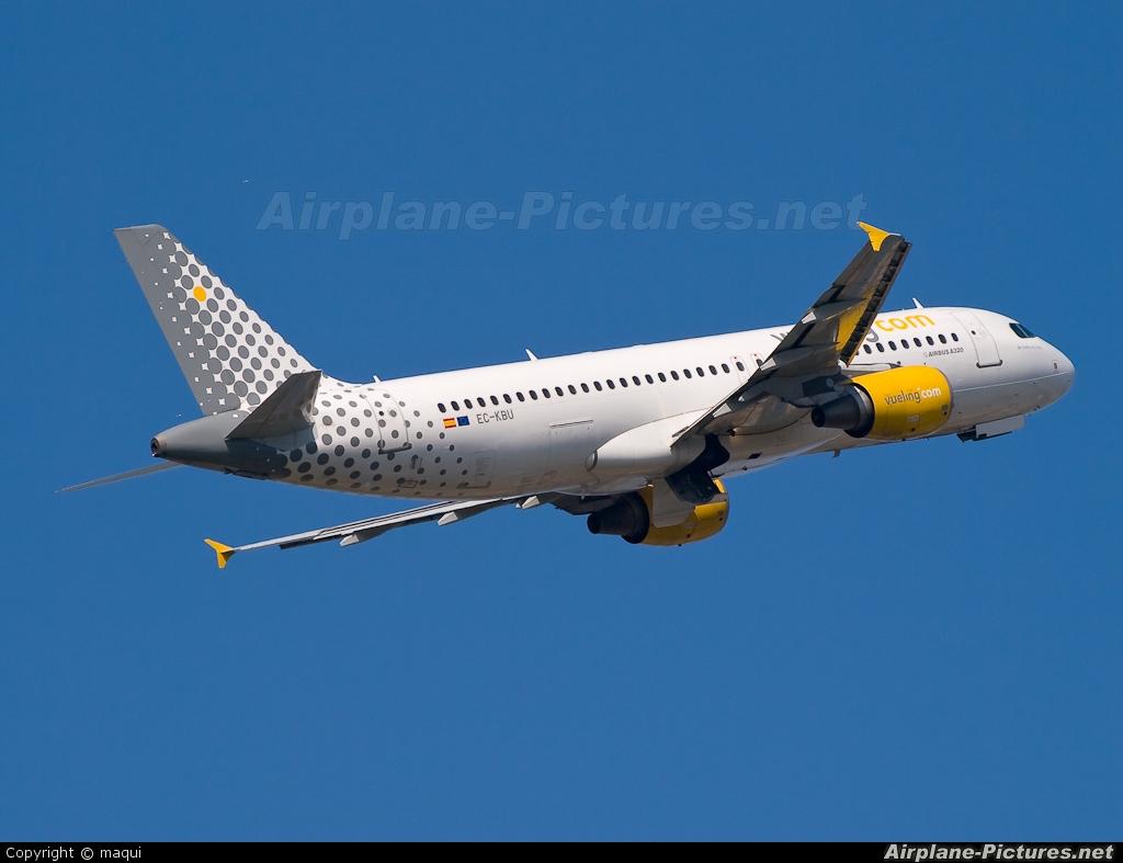 Vueling Airlines EC-KBU aircraft at La Coruña