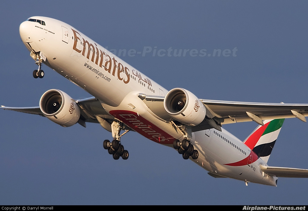 Emirates Airlines A6-ECL aircraft at London - Heathrow