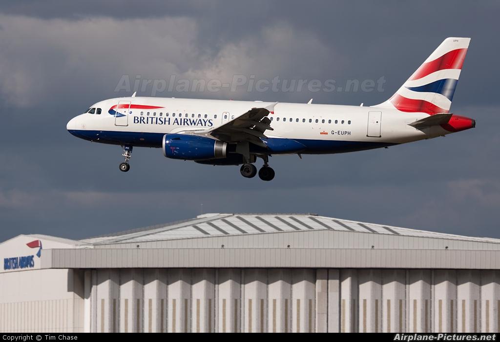 British Airways G-EUPH aircraft at London - Heathrow