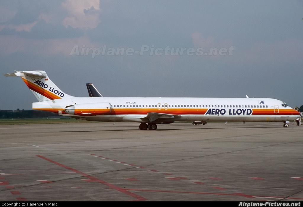 Aero Lloyd D-ALLR aircraft at Berlin - Tegel