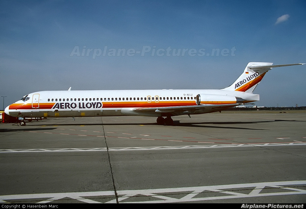 Aero Lloyd D-ALLJ aircraft at Berlin - Tegel