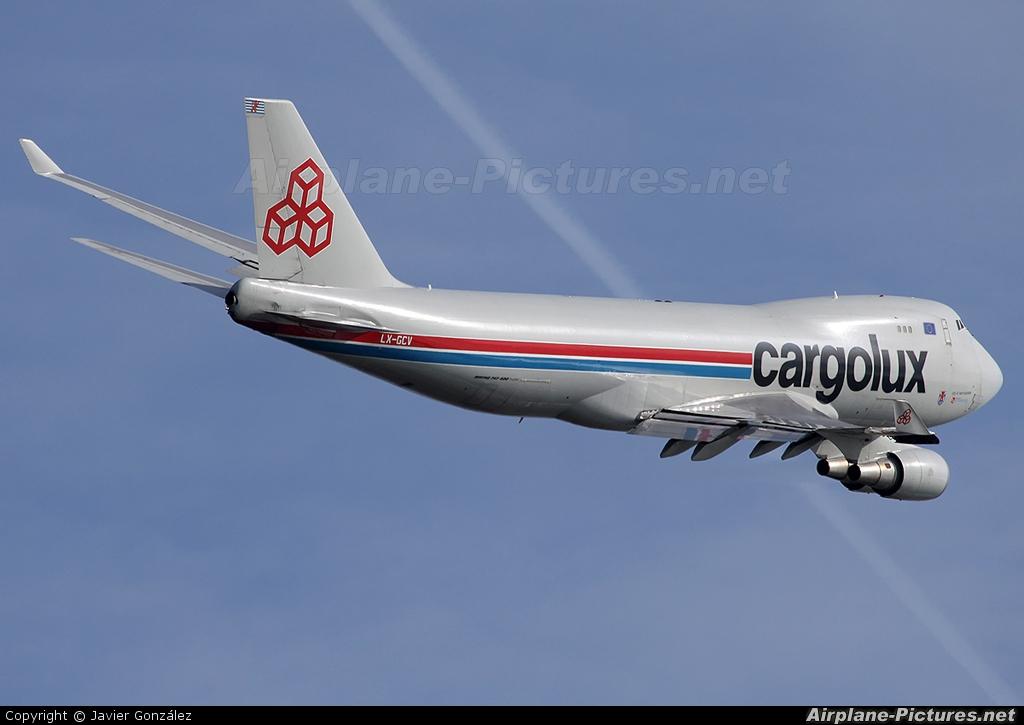 Cargolux LX-GCV aircraft at Barcelona - El Prat