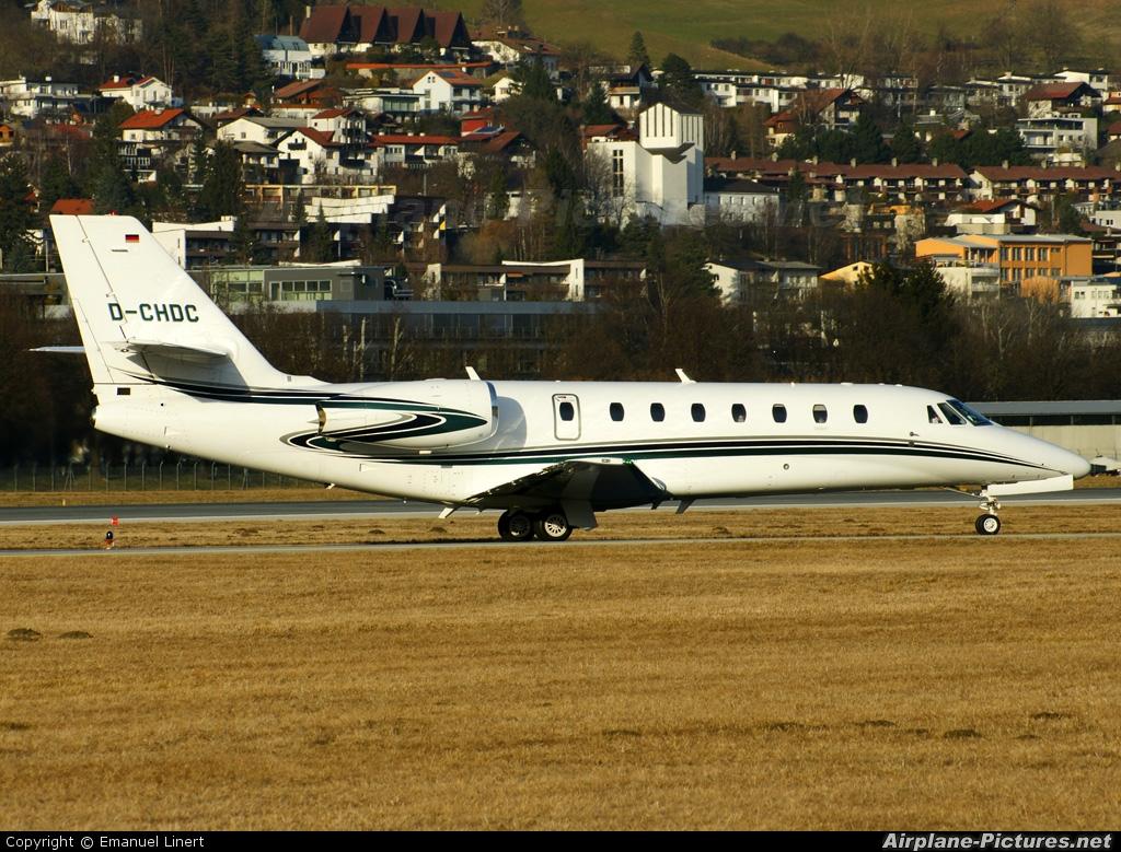 Private D-CHDC aircraft at Innsbruck