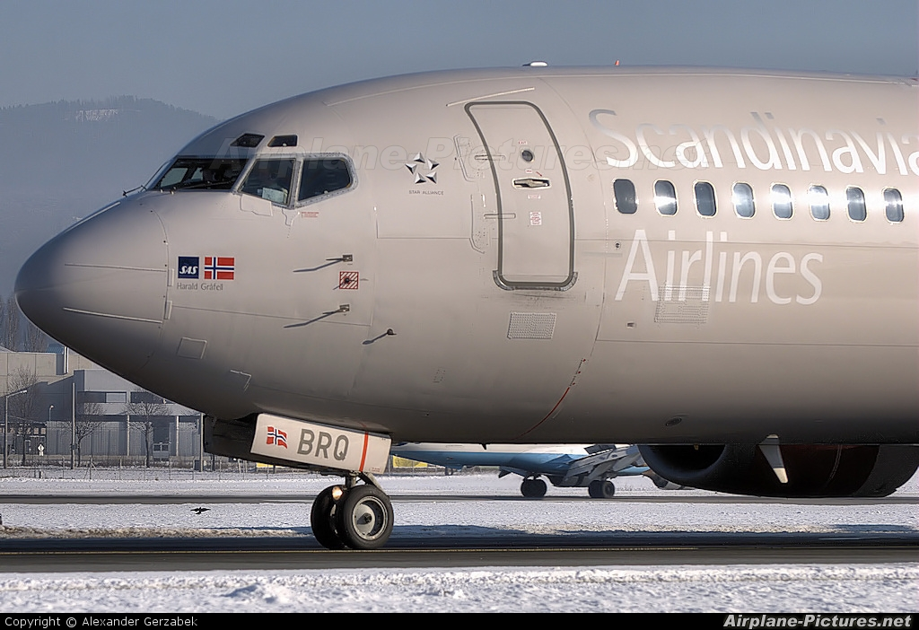 SAS - Scandinavian Airlines LN-BRQ aircraft at Salzburg