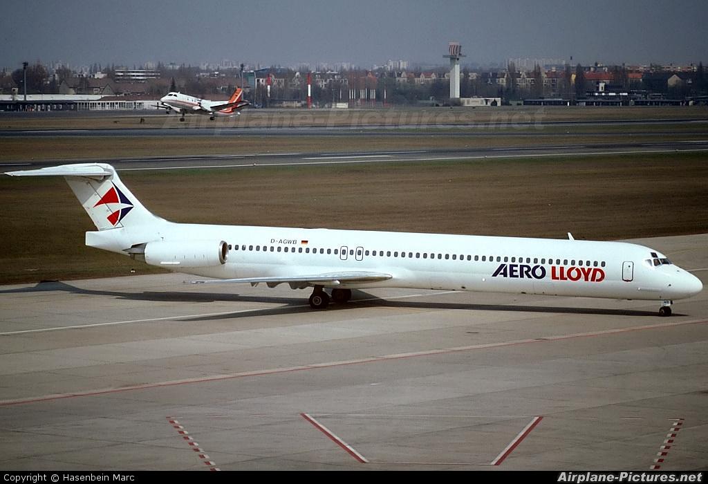 Aero Lloyd D-AGWB aircraft at Berlin - Tegel