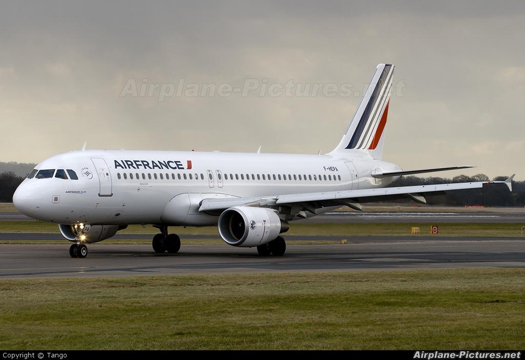 Air France F-HEPA aircraft at Manchester