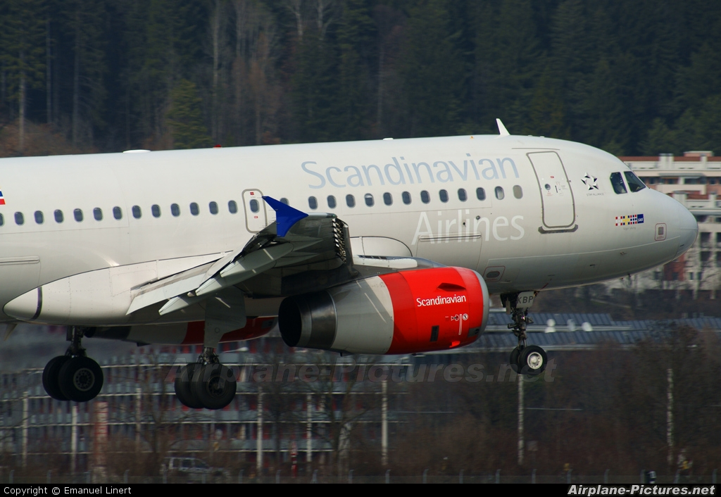 SAS - Scandinavian Airlines OY-KBP aircraft at Innsbruck