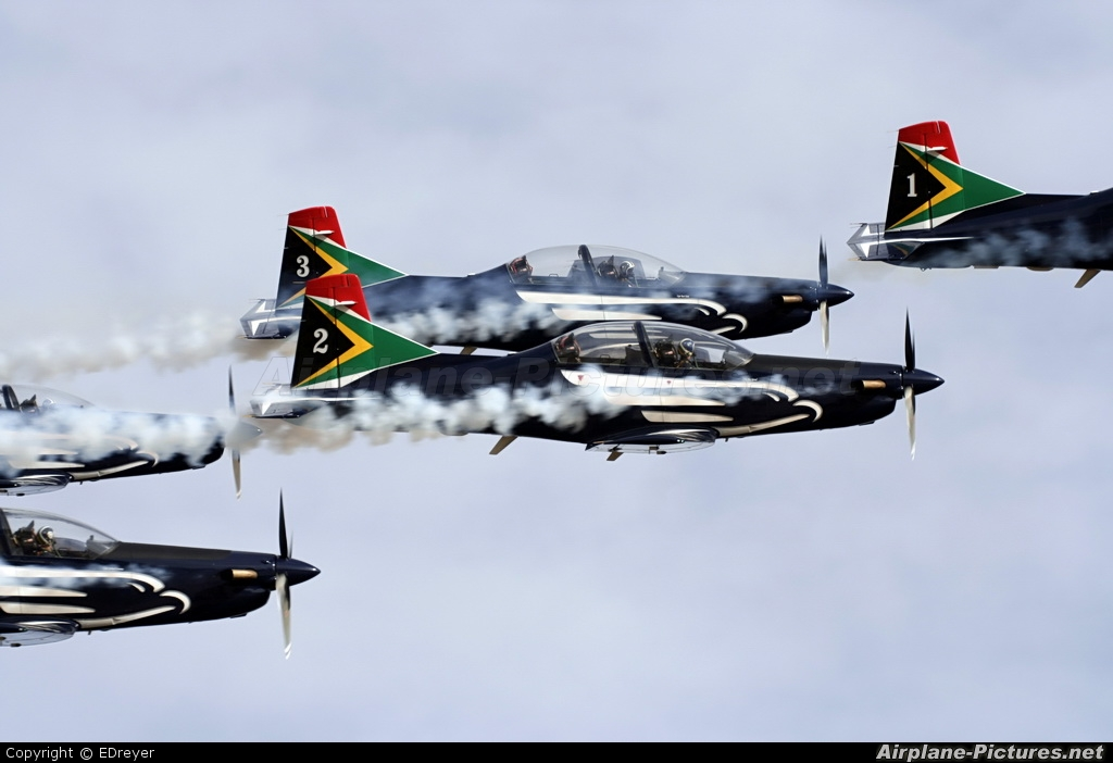 South Africa - Air Force: Silver Falcons 2024 aircraft at Vredendal