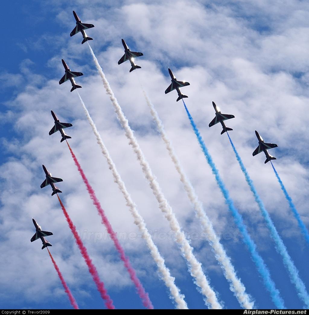 """Royal Air Force """"Red Arrows"""" - aircraft at Cosford"""