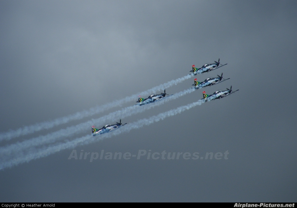 South Africa - Air Force: Silver Falcons - aircraft at Overberg