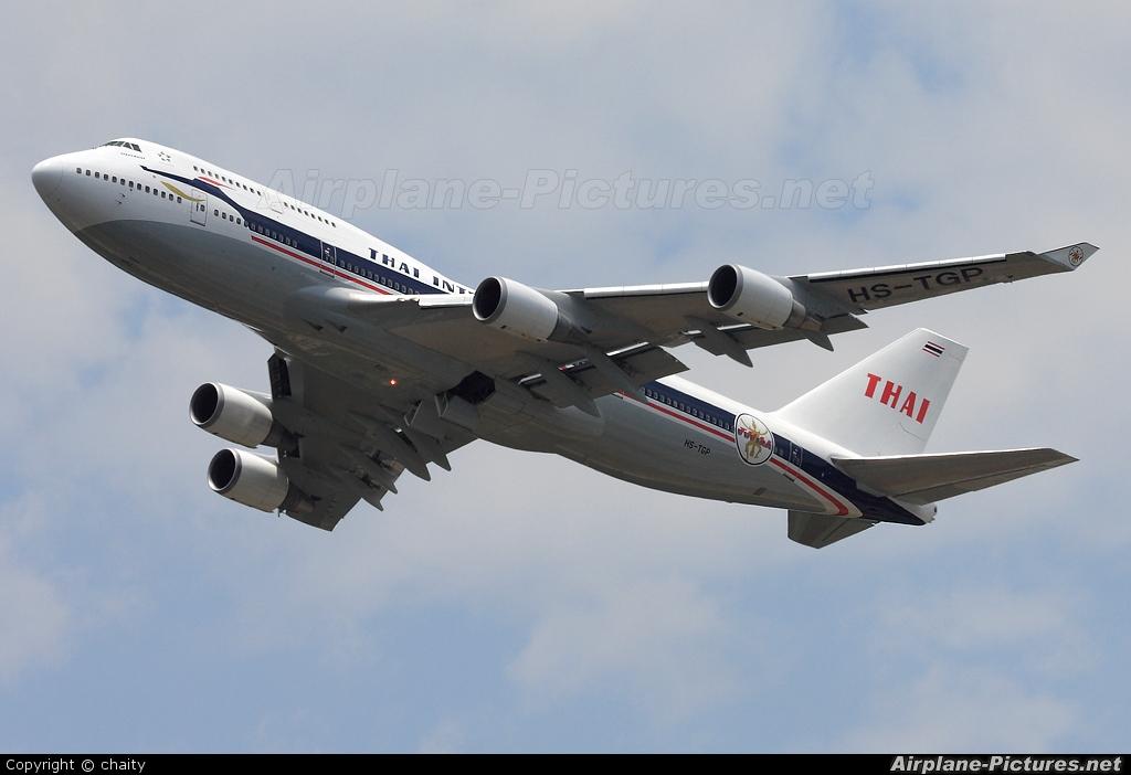 Thai Airways HS-TGP aircraft at Kuala Lumpur Intl