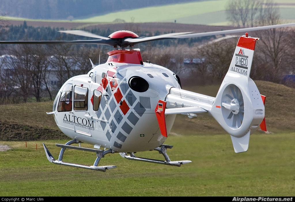 Private D-HECO aircraft at Donauwörth - Eurocopter Heliport