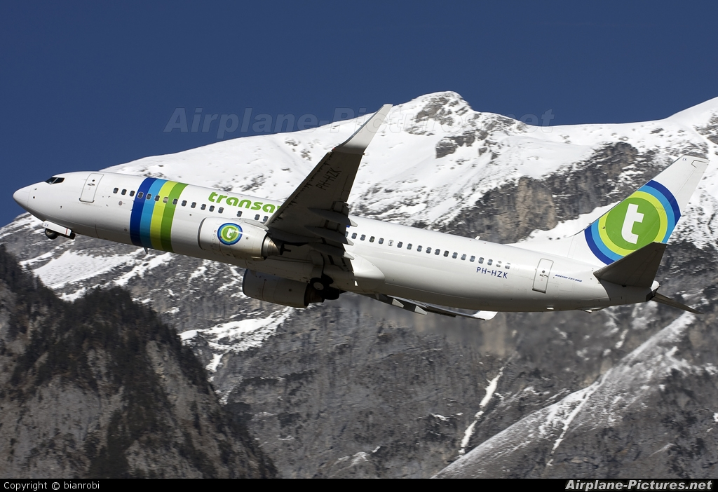 Transavia PH-HZK aircraft at Innsbruck